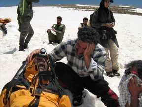 صائقه زدگی کوهنوردان در توچال 1386